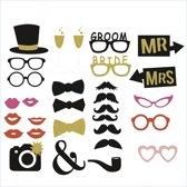 Bruiloft Groom Bride | Photobooth Prop Set