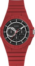 GUESS Watches Retro Watch W0942L4 - Horloge - Unisex - rood - Ø 41 mm