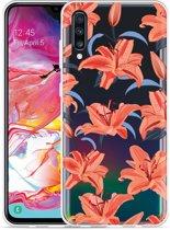 Galaxy A70 Hoesje Flowers