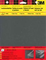 3M schuurpapier watervast K400 extra fijn 4 stuks
