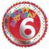Happy Birthday 6 jaar folie ballon