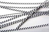 Papier Wit/Zwart gestreepte TwistTie 15.2x0.4cm (1000 Stuks) [TT6WKS]