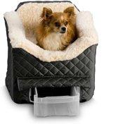 Snoozer Lookout - Autostoel - Autozitje voor honden - Small 48 x 38 x 43 cm - Zwart - met lade
