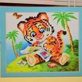 Diamond Painting Pakket voor kinderen - Tijgertje - Diamond Paintings - 21x25 cm - SEOS Shop ®