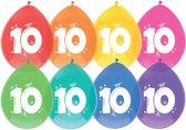 Ballonnen - 10 - 8 x diverse kleuren