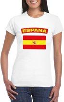 T-shirt met Spaanse vlag wit dames S