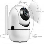 WiFi Security Camera, Motion en Geluid Detectie, Nachtvisie, 1080p, Two-Way Audio, iOS App Besturing, Cloud Storage