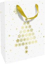 Luxe kerst cadeautas Sparkling Tree - 25x33x11cm - C1622-17557