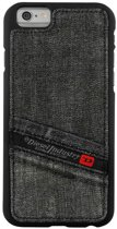 Diesel Moulded Snap Case Pluton Pocket Denim Zwart voor Apple iPhone 6/6S