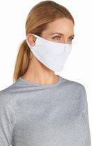 Coolibar UV gezichtsmasker Unisex - Wit - Maat S/M