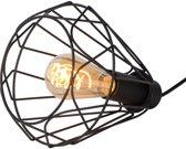 Lucide KYARA - Tafellamp - Ø 20 cm - E27 - Zwart