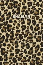 Shaelyn: Personalized Notebook - Leopard Print (Animal Pattern). Blank College Ruled (Lined) Journal for Notes, Journaling, Dia