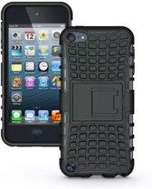 GadgetBay Shockproof zwart iPod Touch 5 6 hoesje standaard case cover