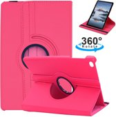Samsung Galaxy Tab A 10.1 2019 SM T510 / T515 Draaibaar Hoesje met stylus pen Multi stand Case - Donker roze