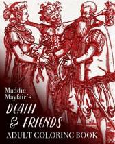 Death and Friends Adult Coloring Book