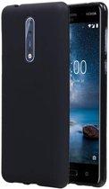 Nokia 8 Hoesje TPU Backcover Zwart