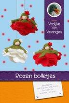 DIY wolvilt pakket: Rozen bolletjes