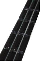 Mozaiek tegelstrip strip glanzend zwart glas