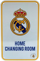 Real Madrid - Plaat - Home Changing Room Sign - Wit/Geel