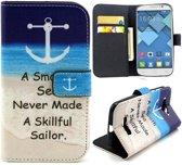 Skillful wallet hoesje Alcatel one touch C7