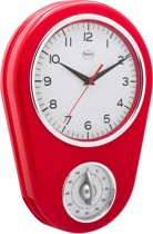Wall Clock 31 cm Red
