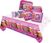 Paw Patrol feestpakket | feestartikelen kinderfeest voor 8 kinderen roze