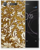 Sony Xperia XZ1 TPU Hoesje Design Barok Goud
