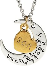 Fako Bijoux® - Ketting - Son, I Love You To The Moon And Back