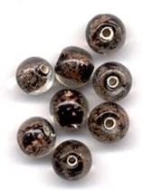 48 Stuks Hand-made Jewelry Beads - Rond - Transparant Zwart