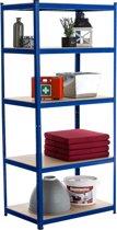 Clp Metalen stellingrek - blauw 200 x 90 x 60 cm