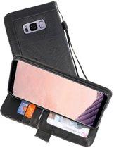 Zwart Luxe Portemonnee Hoesje voor Samsung Galaxy S8 Plus