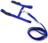 Kittentuigje - Kitten tuig - Kat - Kattentuig inclusief nylon loopband - Blauw