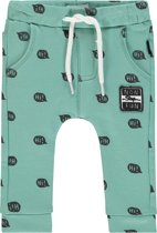 Noppies Jongens Slimfit broek met all over print Porter - Sage - Maat 56