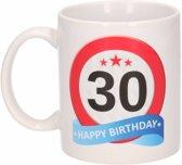 Verjaardag 30 jaar verkeersbord mok / beker
