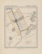 Historische kaart, plattegrond van gemeente Sloten in Friesland uit 1867 door Kuyper van Kaartcadeau.com