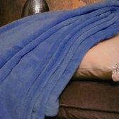 Fleece deken Blauw - 150x200 - Wasmachinebestendig