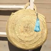 Myroundie - Roundie Bag - Ronde Ibiza Boho Tas 41 - Hand gevlochten Palmblad Tas – Maat M