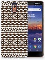 Nokia 3.1 (2018) Uniek TPU Hoesje Aztec Brown