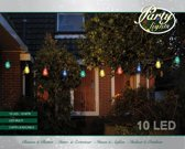 Partylights - 10 LED - 10m - Transparant - Multicolor