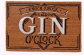 Deurmat met tekst knock knock it's gin o'clock