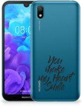 Huawei Y5 (2019) Siliconen hoesje met naam Heart Smile