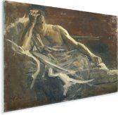 Saul - Schilderij van Jozef Israëls Plexiglas 160x120 cm - Foto print op Glas (Plexiglas wanddecoratie) XXL / Groot formaat!