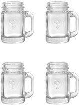 Mason jar shotglazen (set van 4)