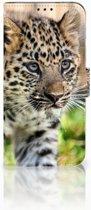 Honor View 20 Uniek Boekhoesje Baby Luipaard