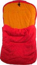 Voetenzak universeel buggy – wandelwagen – rood – oranje