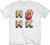 Rolling Stones Heren Tshirt -XXL- Honk Letters Wit