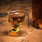 MikaMax Skull Whiskey Glass 200ml ø 9x10cm - Handgeblazen