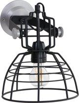 Lighting - Industriele AN Wandlamp 1-L. 22x24cm - Zwart