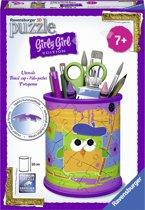 Ravensburger Funky Owls Pennenbak - Girly Girl 3D puzzel - 54 stukjes