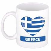 Hartje Griekenland mok / beker 300 ml